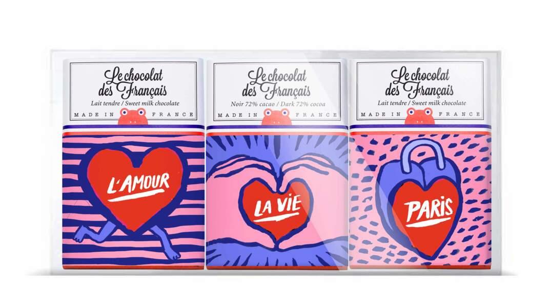 Trio de cœur Le chocolat des Français