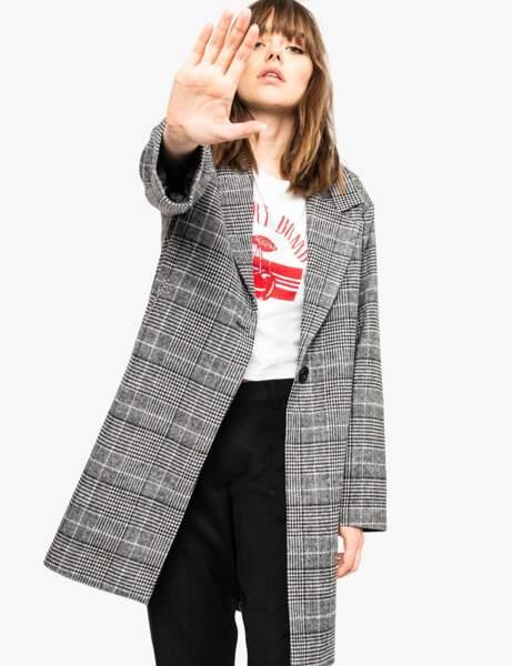 Manteau tendance: prince de galles