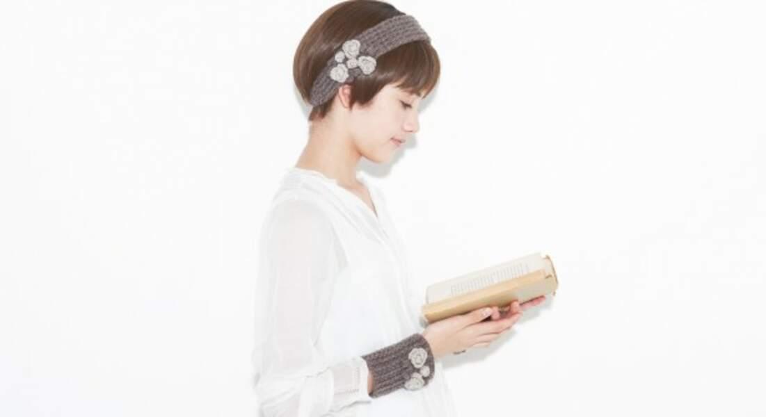 Un headband et un bracelet assortis au crochet