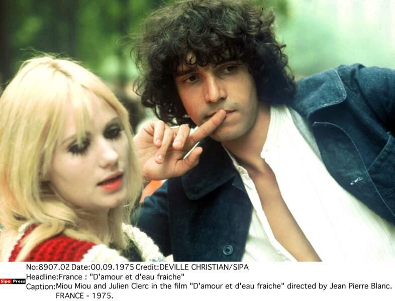 Julien Clerc et Miou-Miou se rencontre en 1975...