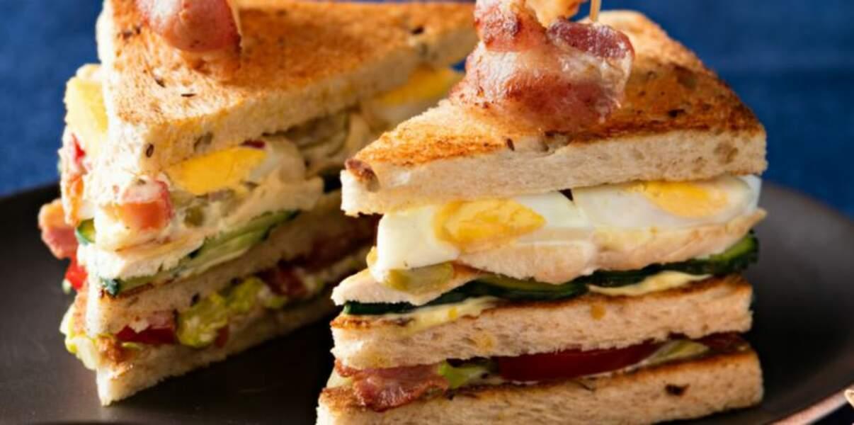 Club sandwich à la volaille