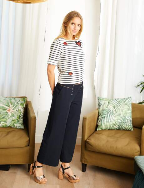 Pantalon tendance : pantalon large chic