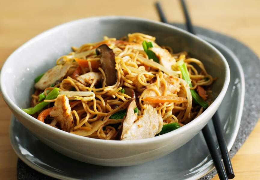 Nouilles chinoises sautées au porc