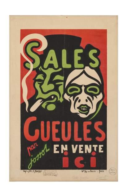 Affiche caricaturale Sales Gueules, 1896