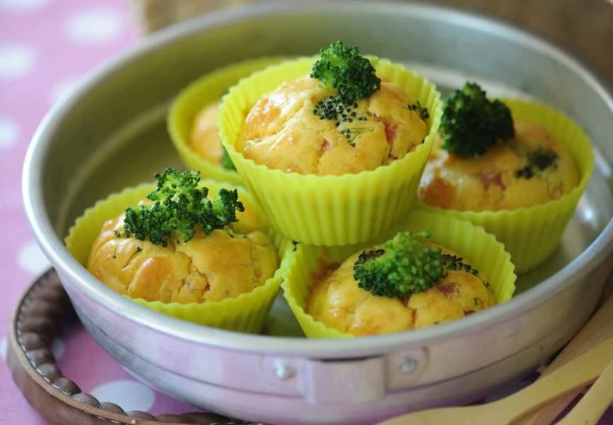 Cupcakes jambon et brocolis