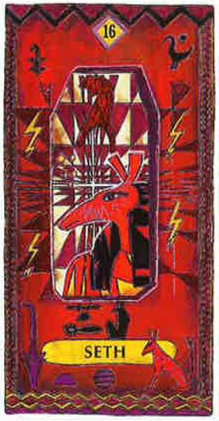 Lame 16 du tarot égyptien : Seth