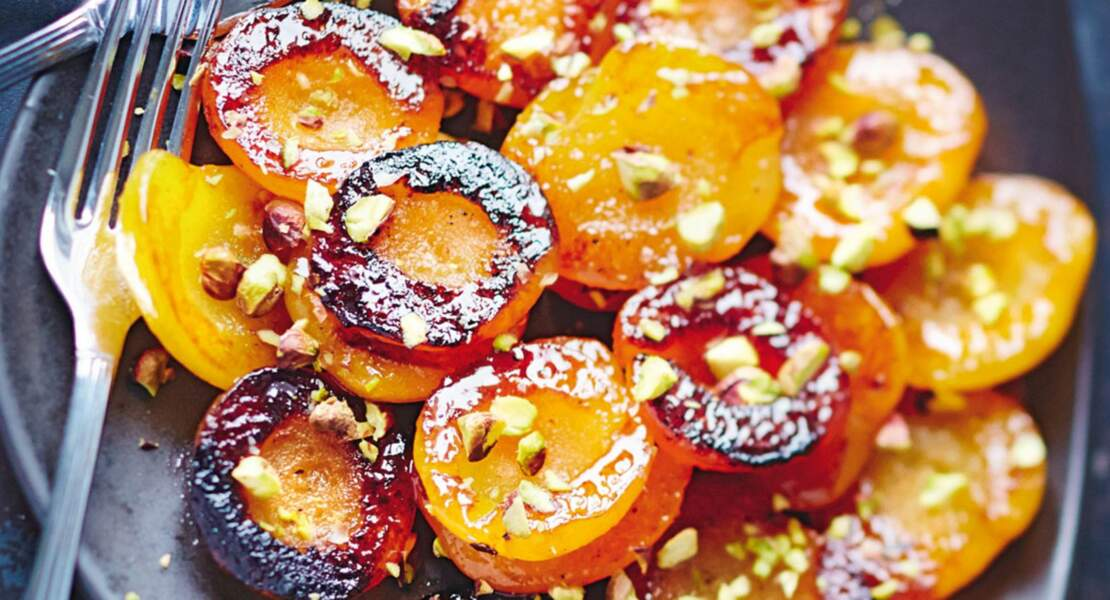 Abricots rôtis aux pistaches