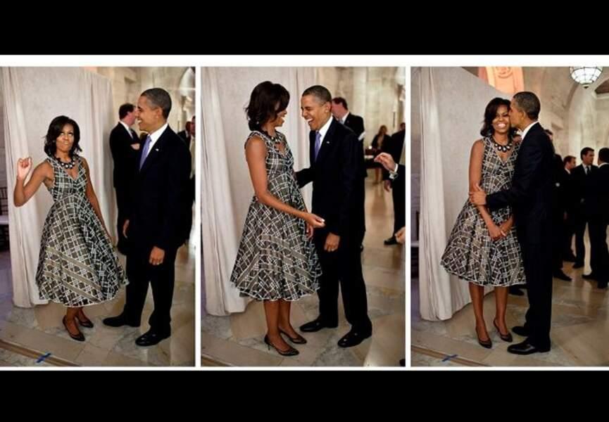Barack et Michelle Obama amis et complices...