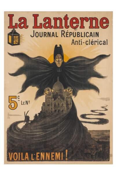 Publicité pour le journal La Lanterne, 1902
