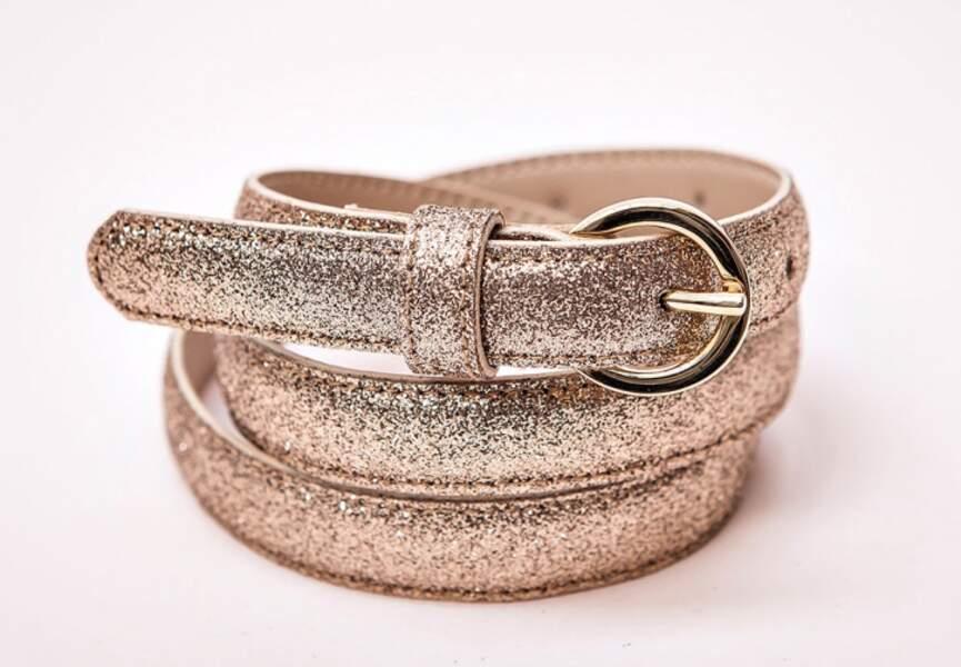 Accessoire tenue de mariage & cérémonie : ceinture glitter