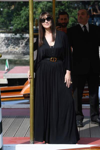 Monica Bellucci est aussi arrivée à Venise ce jeudi 29 août.