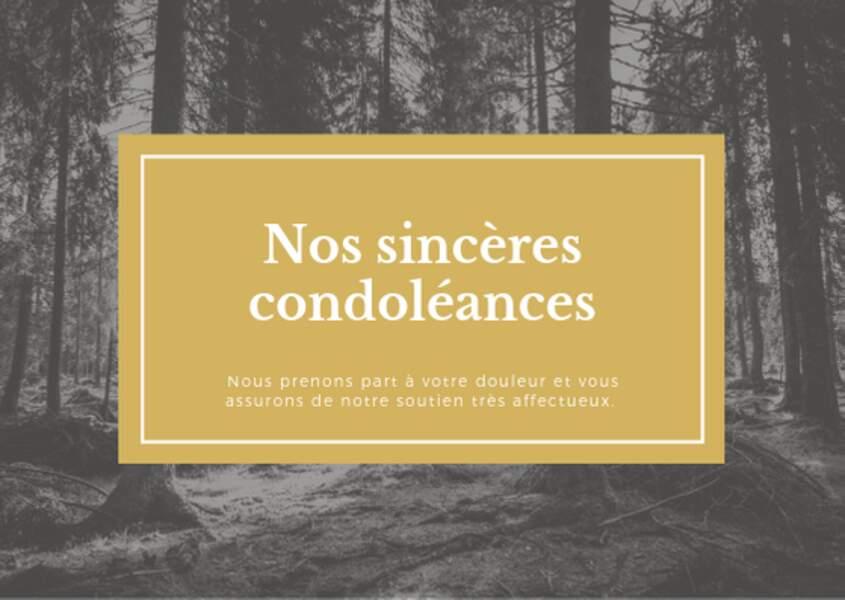 Nos sincères condoléances
