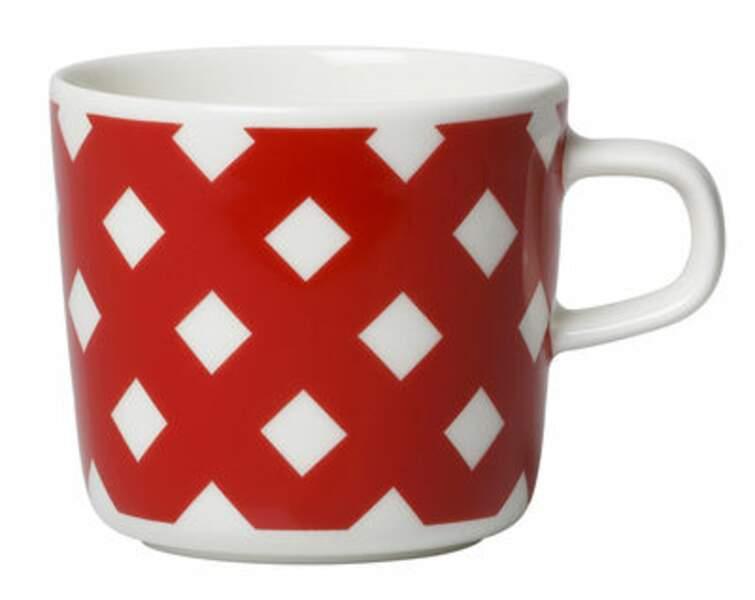 Tasse rouge Marimekko