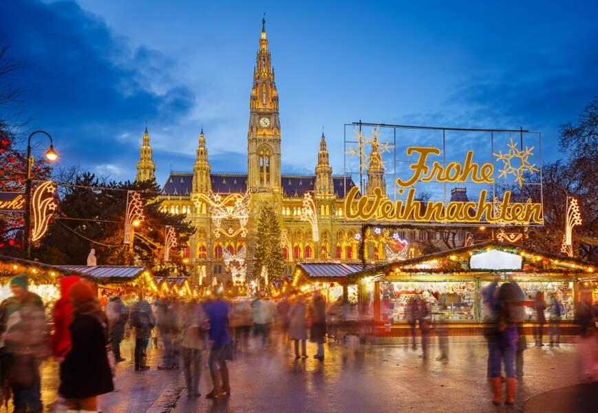 Marché de Noël au Rathaus de Vienne