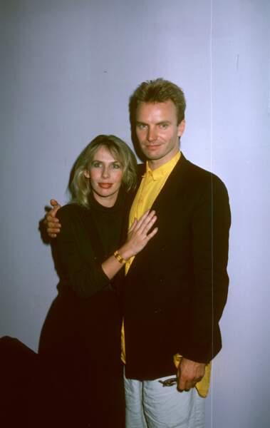 Le chanteur Sting et Trudie Styler...