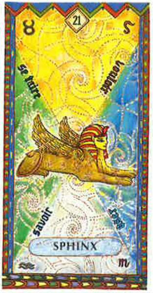 Lame 21 du tarot égyptien : Sphinx