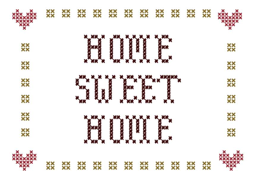 Broderie Home sweet home