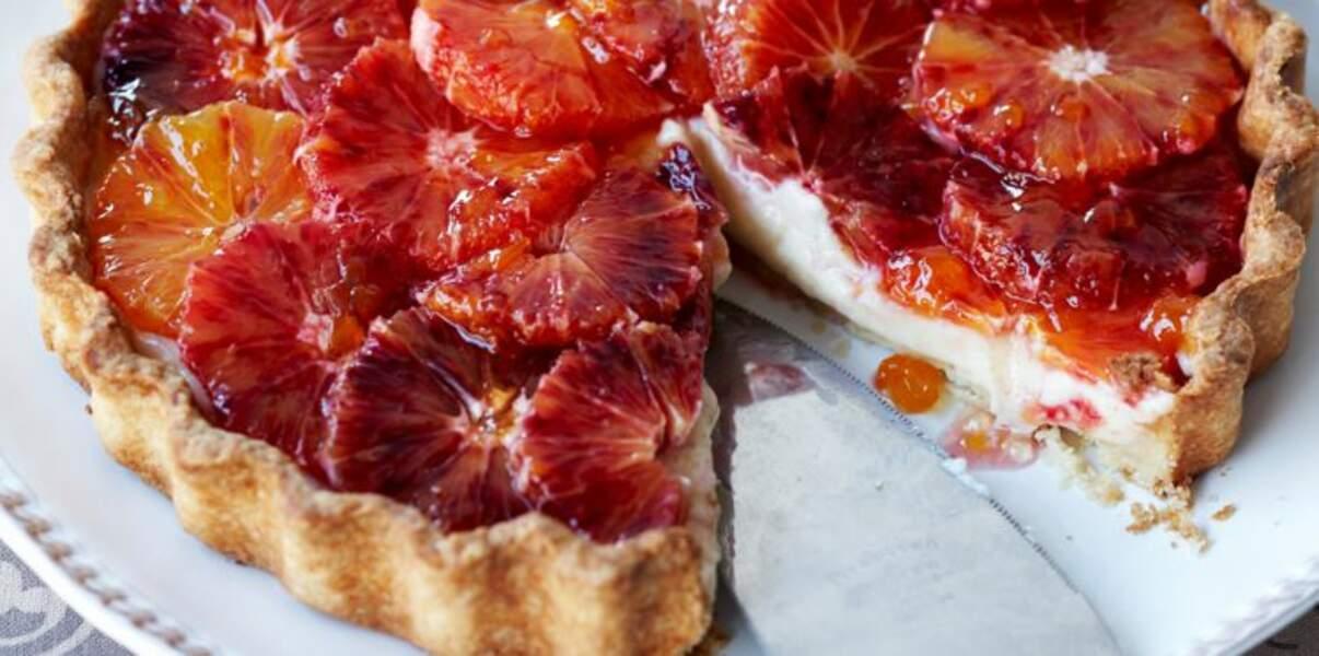 Tarte à l'orange sanguine fraîche