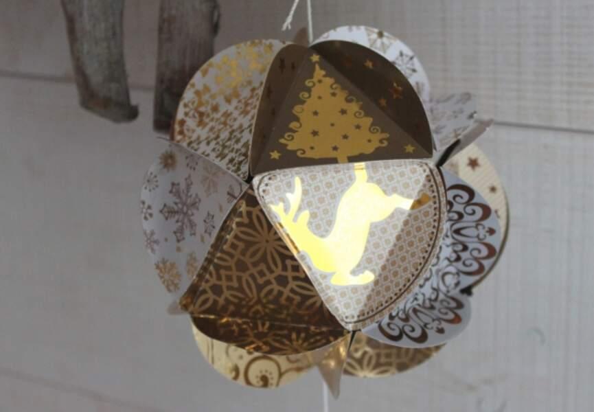 Une boule en papier 3D