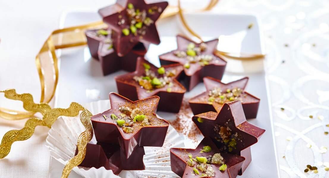Etoiles en chocolat