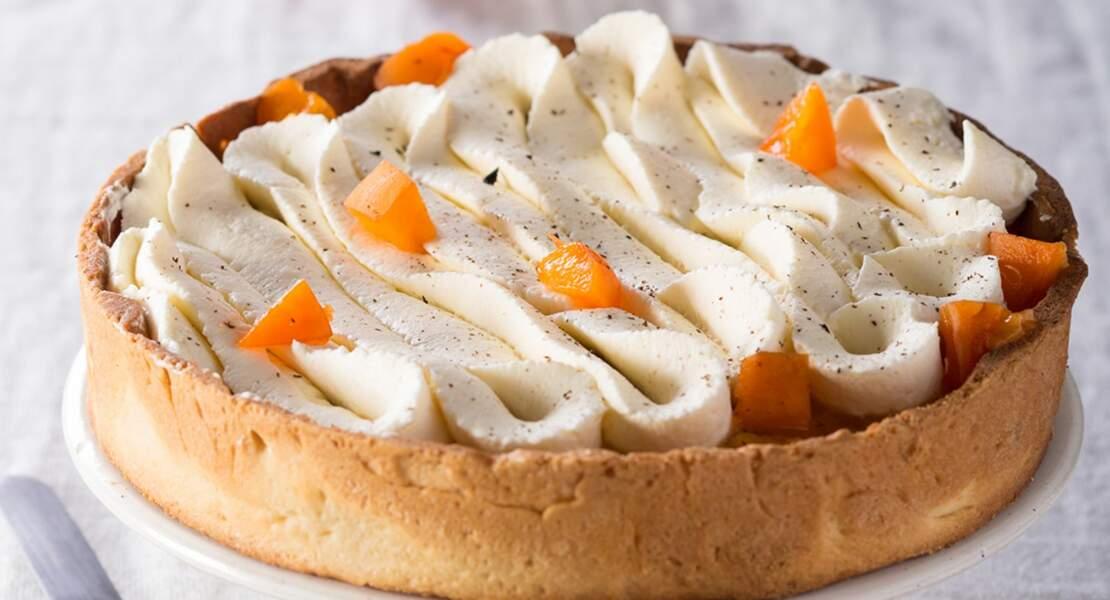 Tarte aux pêches, abricots, nectarines et crème vanille
