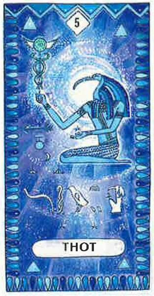 Lame 5 du tarot égyptien : Thot