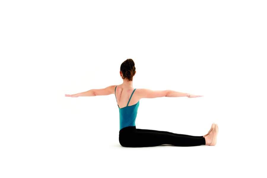 Séance de Pilates express avant d'aller se coucher : Spine twist (suite)