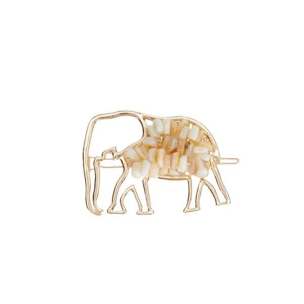 La barrette éléphant incrustée de perles