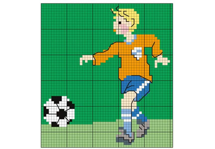 Une grille pour les fans de foot