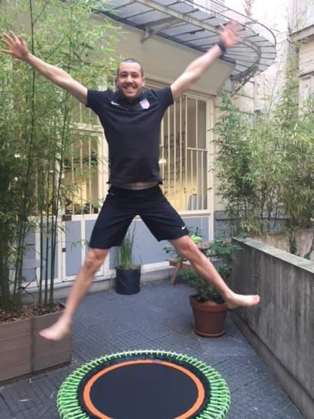 Mini-trampoline bellicon : posture n°7