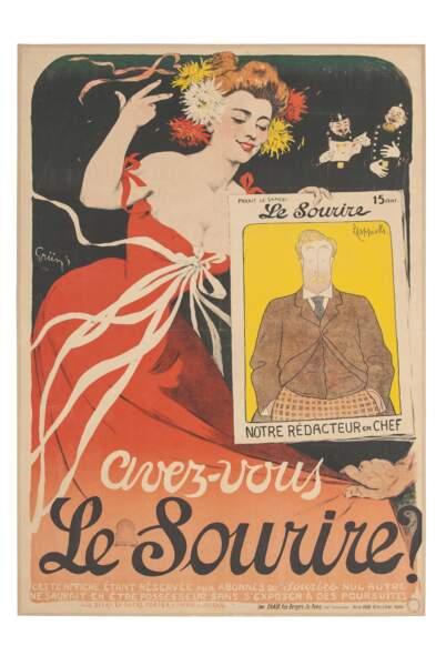 Affiche pour le journal Le Sourire, 1900
