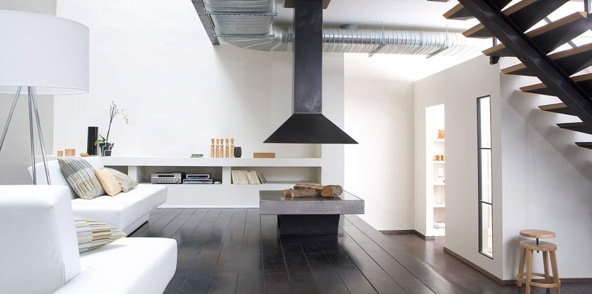 Salon design en blanc