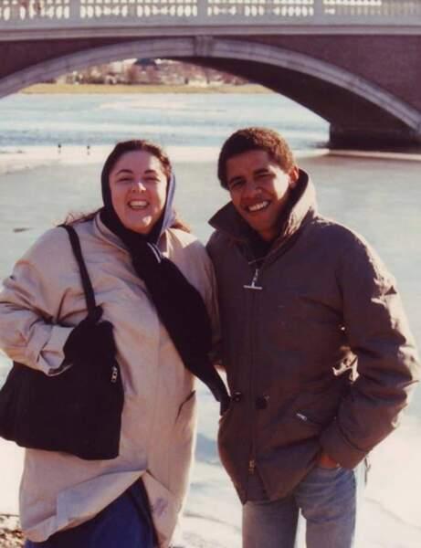 Barack Obama et sa mère, Ann, à Cambridge. Elle est morte en novembre 1995.