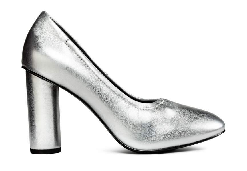 Chaussure de fêtes : la plus argentée
