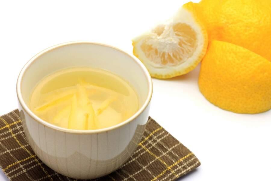 Le thé glacé au yuzu, anti-rhume
