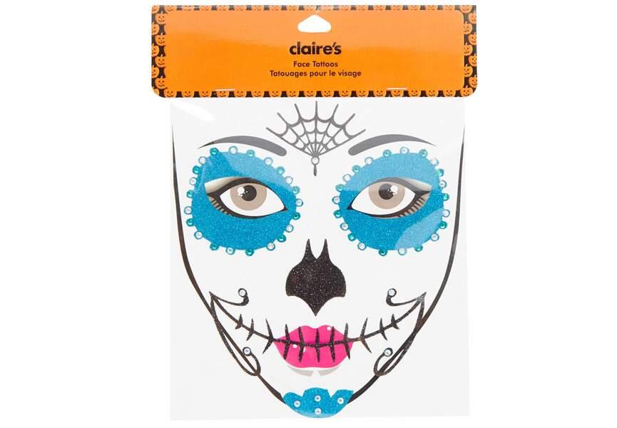 Tatouage visage, Le Jour des morts, Claire's