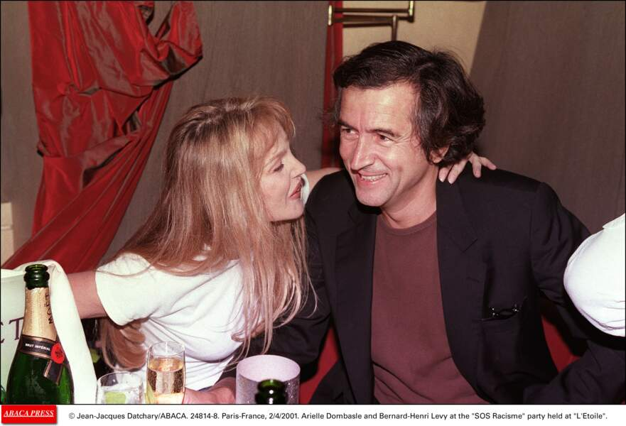 Arielle Dombasle et Bernard-Henri Levy...