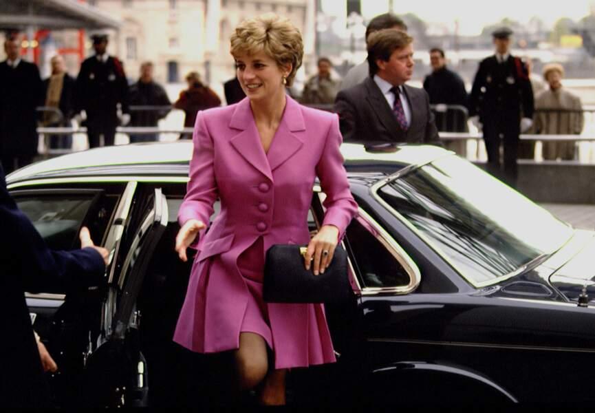 Visite en France de Lady Di en 1992, année de sa séparation avec Charles.