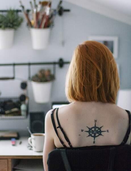 Le tatouage boussole