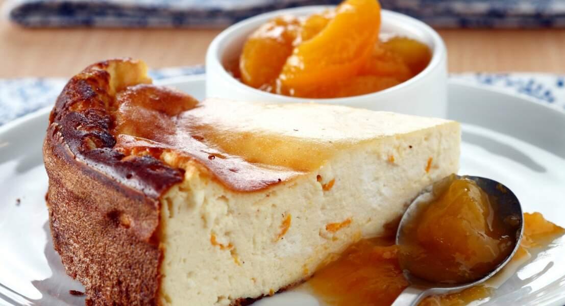 Gâteau à la compotée d'abricots