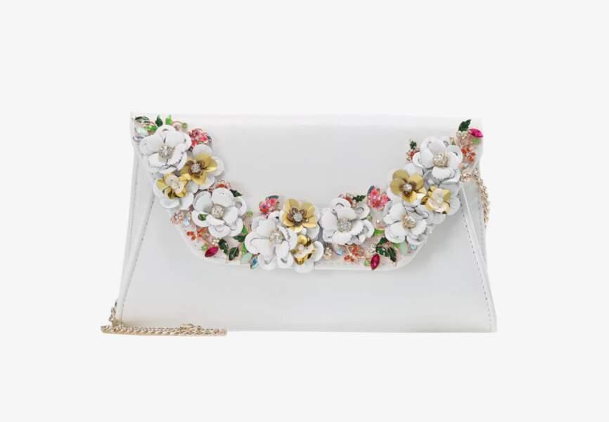 Accessoire tenue de mariage & cérémonie : pochette à fleurs