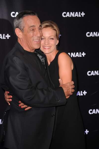 Thierry Ardisson et Audrey Crespo-Mara très proches lors de la soirée Canal + à Paris (2013