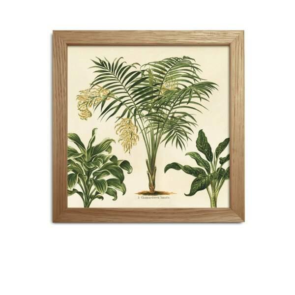 Affiche et cadre en papier et bois