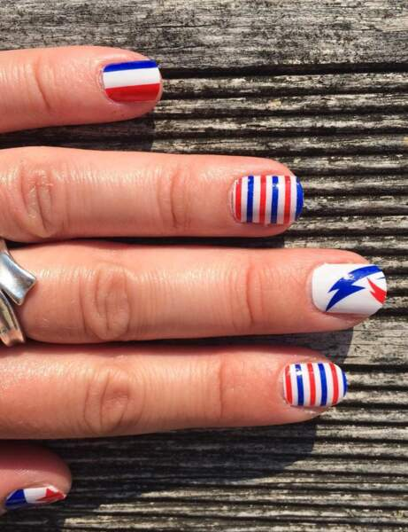 Ongles courts : le patriotique