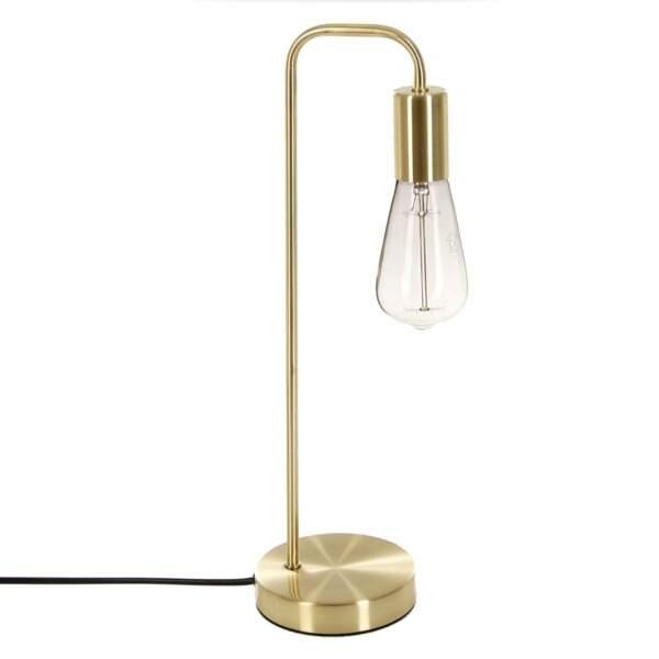 Lampe dorée en métal