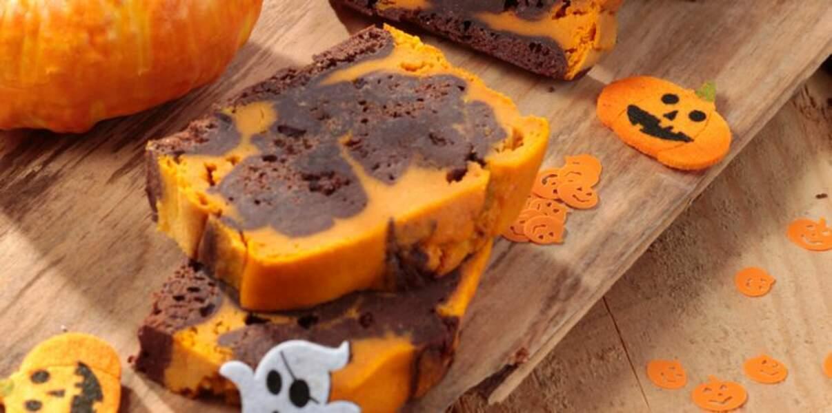 Cake d'halloween au potiron et chocolat noir