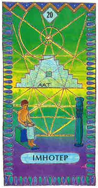 Lame 20 du tarot égyptien : Imhotep