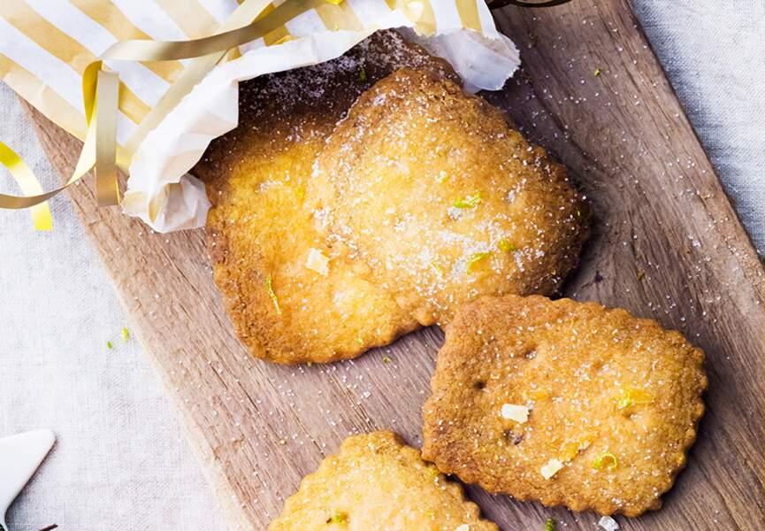 Shortbreads au citron vert et au gingembre
