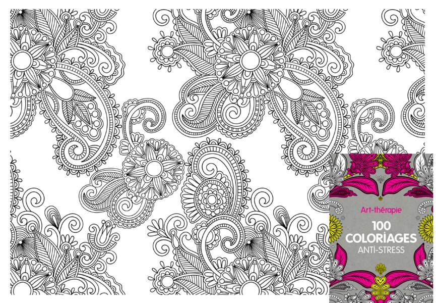 100 coloriages anti-stress
