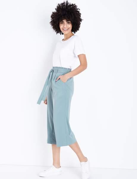Pantalon tendance : pantalon large paperbag